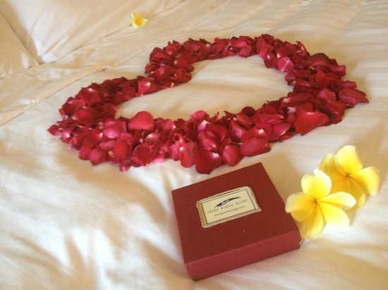 Grand Mirage Resort and Thalasso Bali: Honeymoon service