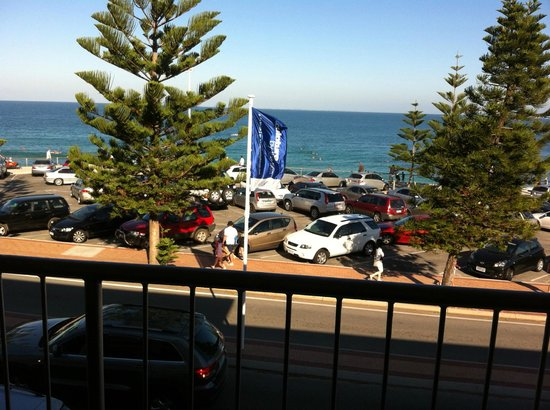 The Cottesloe Beach Hotel : View from balcony, road in front