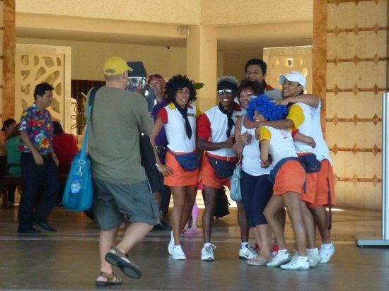 Sunscape Dorado Pacifico Ixtapa: The Entertainment Crew saying good-bye to guests.