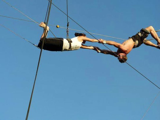 "Aerial Trapeze Academy: Flying Trapeze, ""the catch"""