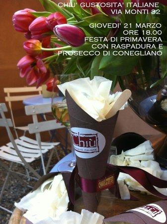 Chiù Gustosità Italiane: Raspadura per la festa di primavera