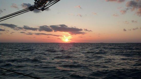 Schooner Appledore: sunset from the appledore
