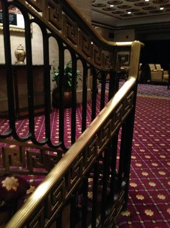 The Roosevelt Hotel: The wonderful old railings in the lobby..