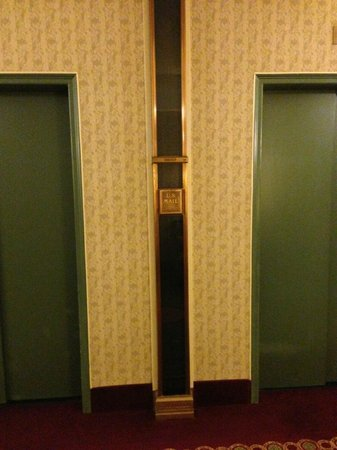 The Roosevelt Hotel: The old mail chute (15th floor) - and I did use it. Too fun!