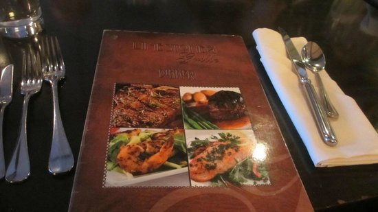 Limestone Grille: menu (really worn out menus)