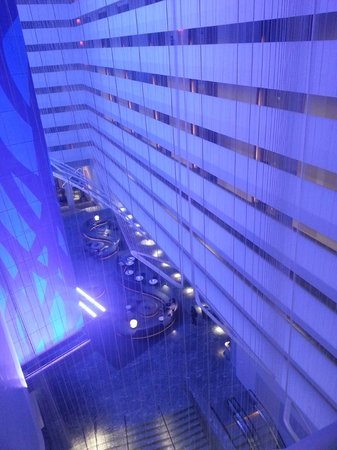Conrad New York: Lobby atrium view from the 9th Flr