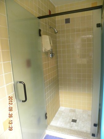 DoubleTree by Hilton Hotel Denver: Shower in Bathroom Near Indoor Pool / Sauna / Hot Tub