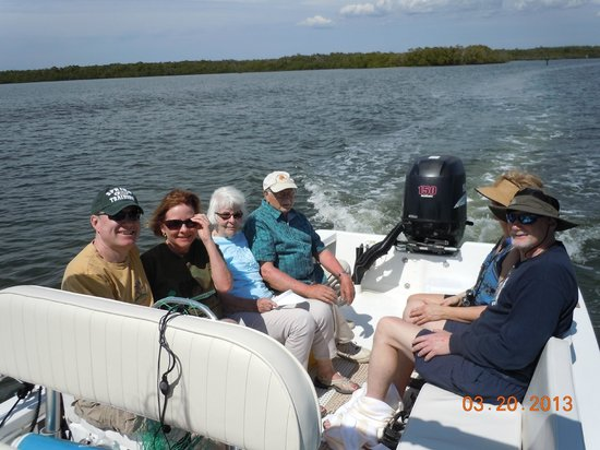 Island Gypsy Excursions: Six adults seated comfortably.....enjoying the water!