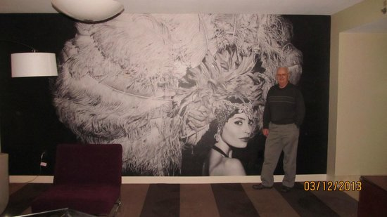 Renaissance Las Vegas Hotel: This was a mural on one of the walls of the living room of the suite