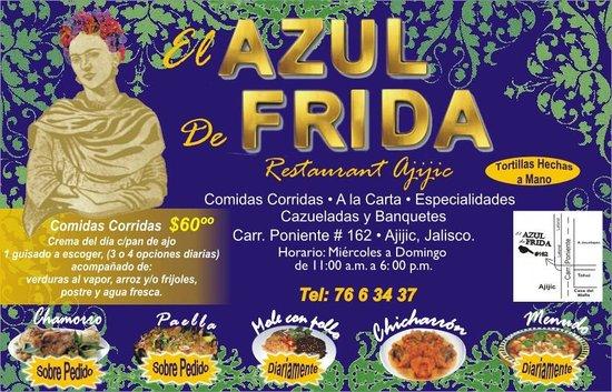 El Azul de Frida: VOLANTE