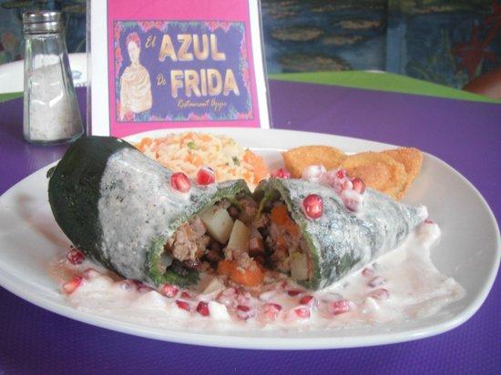 El Azul de Frida: CHILES EN NOGADA