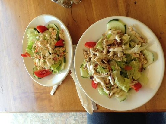 Blue Cave Castle : TEDDYS HIDEAWAY CHICKEN SALAD AND LOBSTER SALAD