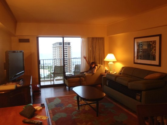 Hilton Grand Vacations at Hilton Hawaiian Village: Kalia towerの客室