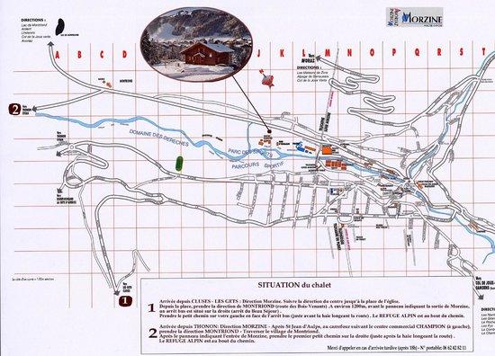 Chalet Alpine Refuge: Location Map