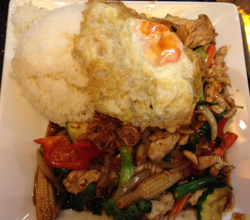 Ghin Khao Thai Food: Pad Kra Pow - Chicken with Thai Basil Stir Fry