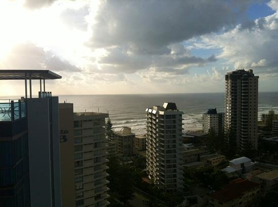 Artique Surfers Paradise: View from 19th floor one bedroom apartment balcony