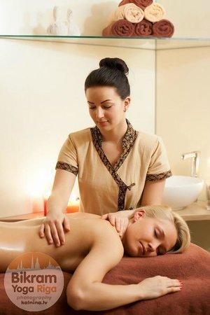 Massage at our Bikram Yoga Riga studio