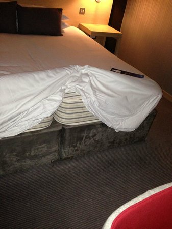Radisson Blu Hotel, Glasgow: bed with 2 mattresses - to avoid!!!!