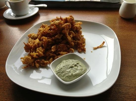 Moksha: chicken onion bhaji
