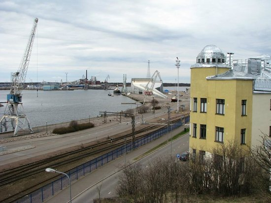Look to Maritime Centre Vellamo from the hill