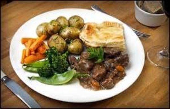 Eglinton Hotel: Mrs Bowies home made steak pie . The Eglington Hotel Dalmellington Ayrshire
