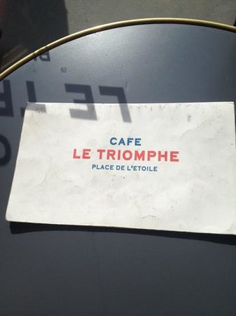 Cafe Le Triomphe : you are here.
