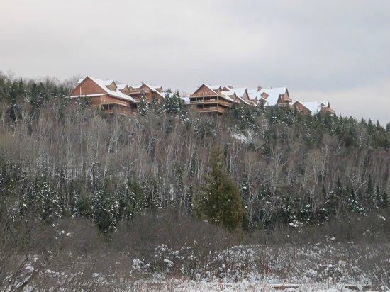 Hotel Sacacomie: hôtel vue du lac
