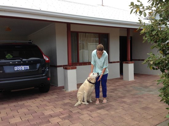 Beachside Prevelly Villas: Guest with family dog at beachfront house