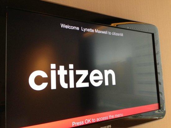 citizenM Glasgow: I am a Citizen :o)