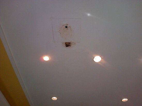 smartline Lancaster: 1 of the leaks in the dining room ceiling.......