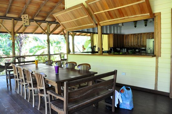 Bluff Beach Retreat: Top Deck by kitchen