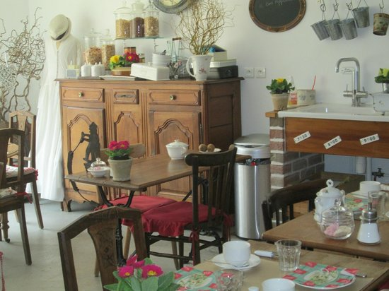 La Nicoulette : la salle du petit déjeuner (très copieux)