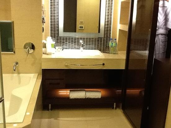 S-aura Hotel: jetted oversized tub with tv in the wall