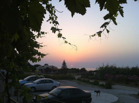 Balci Plaza: Sunset as seen From The restaurant terrace