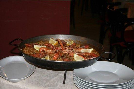 La Fuente del Gusto: La Paella di pescado!
