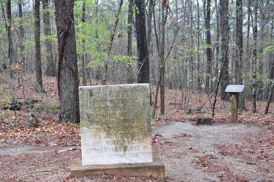 Kennesaw Mountain National Battlefield Park: Battle of Cheatham Hill tombstone.