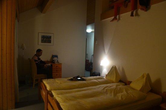 Hotel Artos Interlaken : Lower level room
