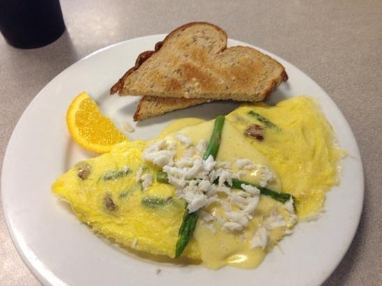 Mallery Street Cafe: Oscar omelette