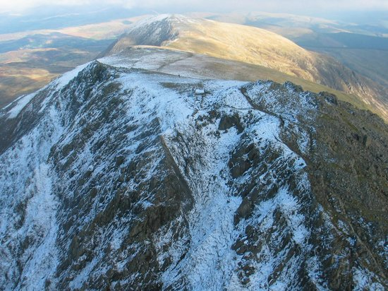 Cader Idris: Another great shot from the helicopter