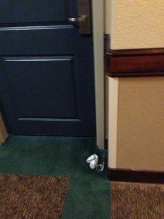 Holiday Inn San Antonio NW - Seaworld Area: dirty sock and cup / stayed there all day
