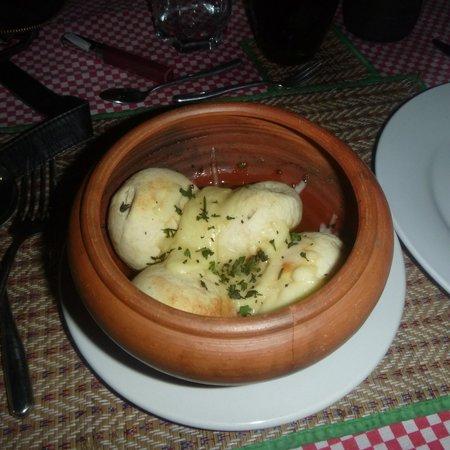 Flame Parrilla Steakhouse: garlic dough balls!