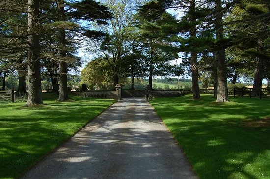 Glenlohane: front driveway of main house