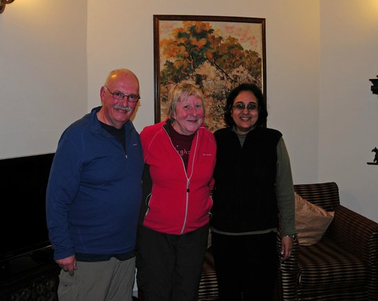 Saubhag Bed and Breakfast: John and Chris with Meera