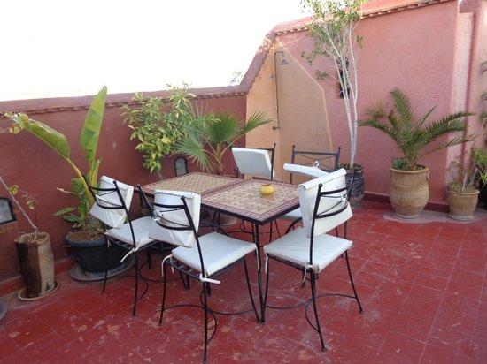 Riad Minorisa: terrazza
