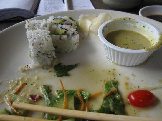 Lan Pan-Asian Cafe: California Roll with Salad