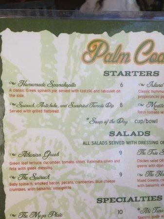 Palm Coast Coffee, Cafe and Pub: dip on menu