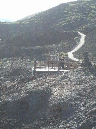 Craters of the Moon National Monument: One of the many viewing platforms amidst the lava fields