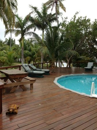 Hatchet Caye Resort: Fresh water pool