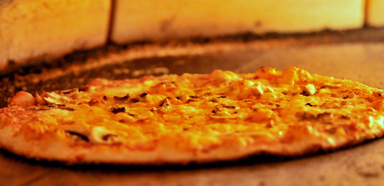Pi Brick Oven Trattoria: Funghi Pizza in our Woodstone Brick Oven