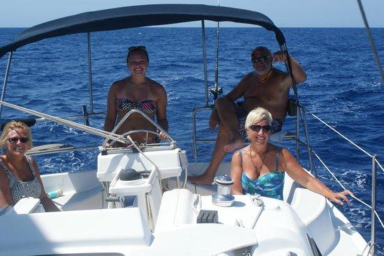 Roatan Sailing with Captain Alex: my niece Ellie